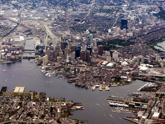 Boston from northeast