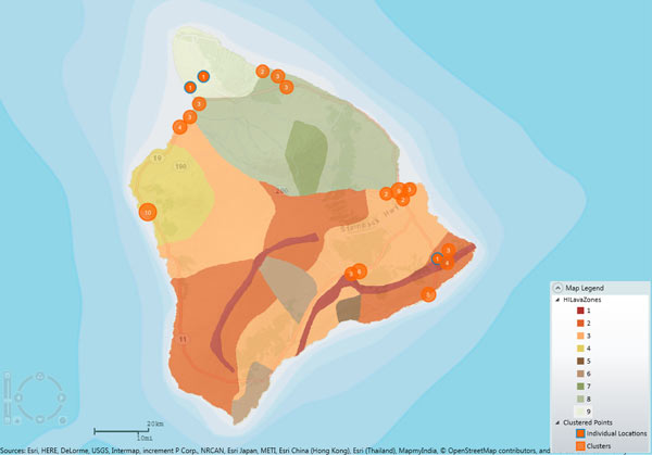 Hawaii Lava Flow Hazard Zone Geospatial Analysis in Touchstone