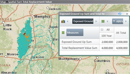 Hazard lookup using AIR and FEMA flood layers in Touchstone's Geospatial Analytics Module