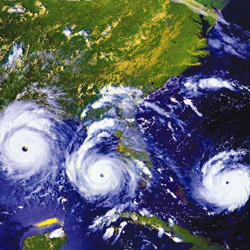 three hurricanes