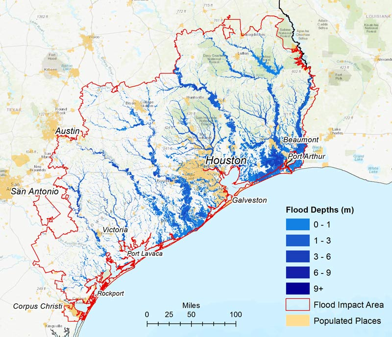 Hurrican Harvey Inundation Map