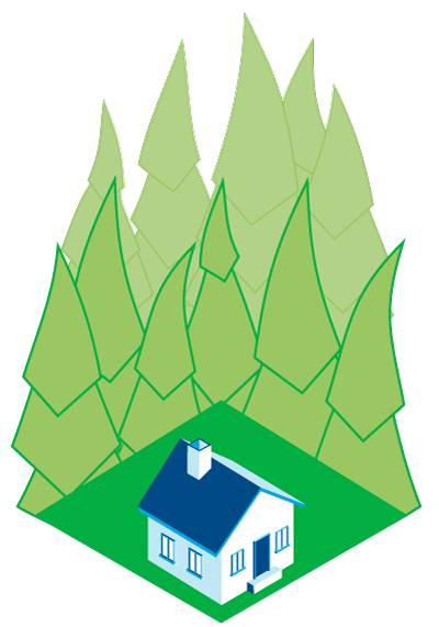 Defensible Space illustration