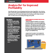Analyze Re™ for Improved Profitability